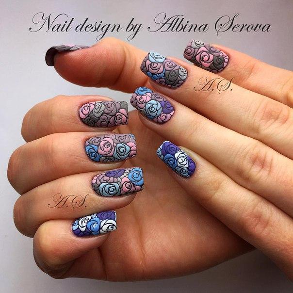 Дизайн ногтей объемная рептилия
