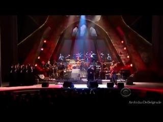Роберт Плант и Джимми Пейдж слушают свою песню ,,Лестница в небо,,480px
