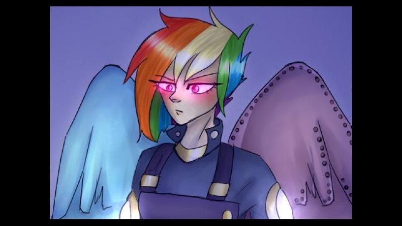 [SPEEDPAINT] MLP: Human Rainbow Dash the Warrior
