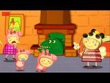 Свинка Пеппа.Три поросенка Пеппа | Против Динозавра. Мультик - На Весь экран. Peppa Pig