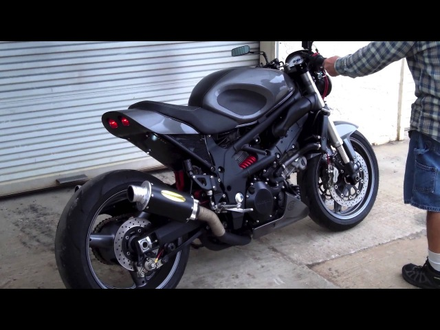 Custom 1997 Suzuki TL1000S Street Brawler Build Fired-Up