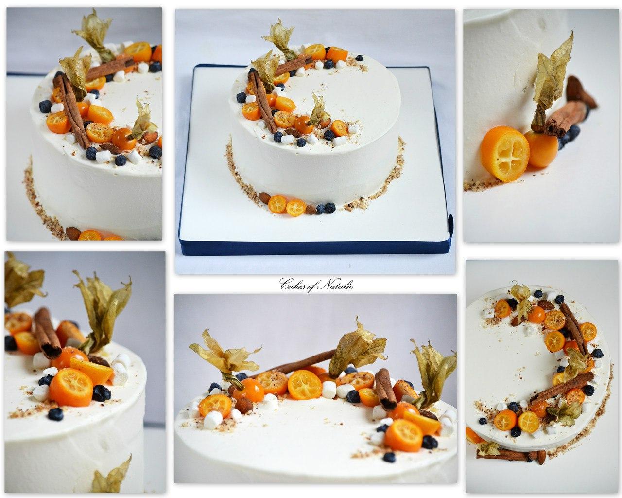 Торты с фруктовым декором