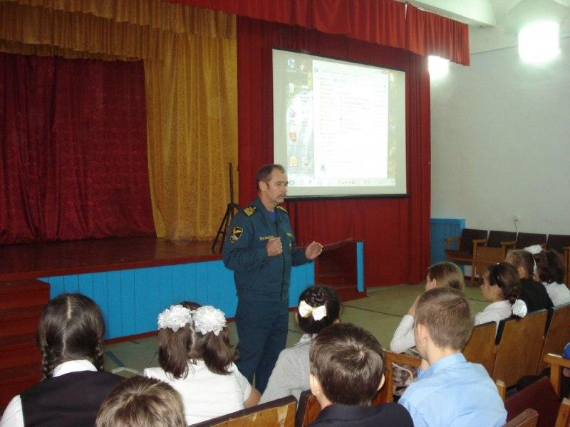 Школьникам станицы Сторожевой рассказали о правилах безопасного поведения на водных объектах в зимний период