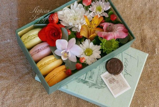 Разыгрывается две коробочки с цветами и макарунс, среди наших подписчиков, сделавших репост этой записи и вступивших в группу Доставка цветов Челны