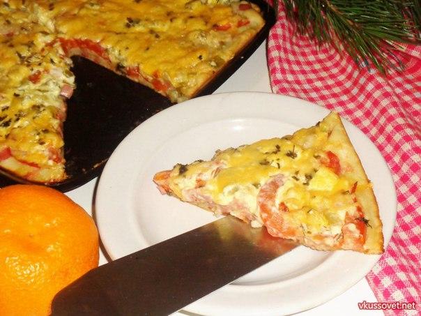 Пицца на жидком тесте рецепт с фото