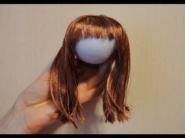 Волосы из атласной ленты ❀ Hair of satin ribbons
