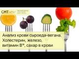 Анализ крови сыроедавегана. Холестерин, железо, витамин B12, сахар в крови