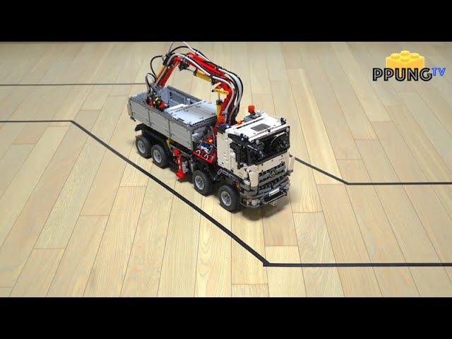 LEGO Technic 42043 - Autonomous driving car (self-driving) RC motorized Mercedes-Benz Arocs by 뿡대디