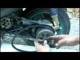 Как увеличить скорость скутера Yamaha jog с помощью расточки вариатора