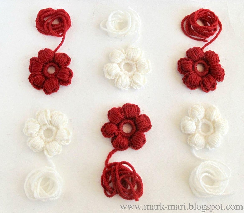 шарф крючком цветочки схема