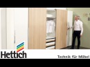 Technology for furniture in bedrooms Hettich sliding door drawer systems