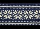 Жаккардовый узор Норвежская звезда на вязальной машине Нева 2