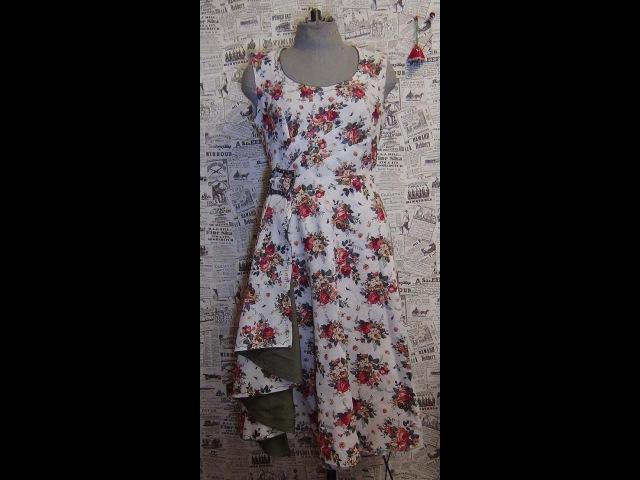 Как сшить платье 2: обработка горловины обтачкой с кантом / How to sew a dress 2