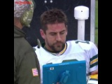 Aaron Rodgers Mad Replay Sideline Tablet