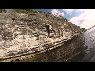 Deep-Water Soloing at Pace Bend Park near Austin, TX