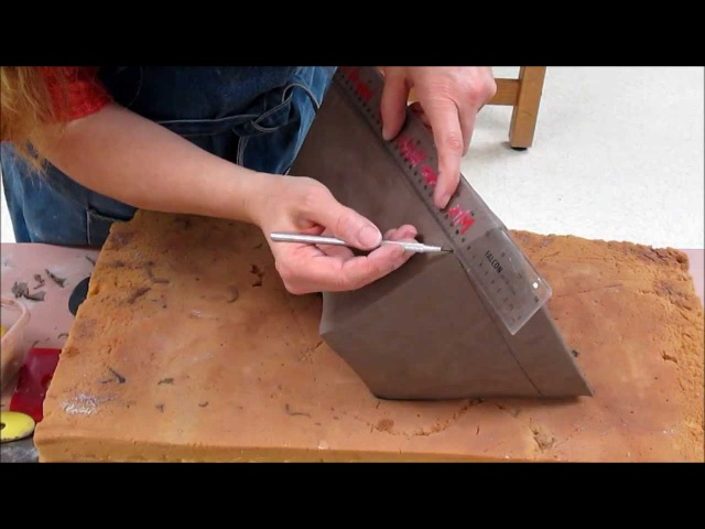 Tar Paper Slab Pot Construction, Day 2- Cleaning and Refining the form and adding design