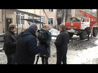 Пожар в музыкальном колледже в Пушкино - М. Павлова дает интервью каналу Россия1