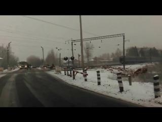 Поезд сбил трактор на переезде в Белоруссии