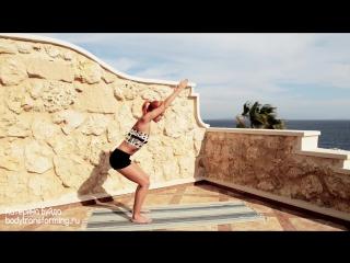 Йога дома  Утренний комплекс для стройности и красоты  Йога для начинающих  Yoga for beginner... [HD, 720p]