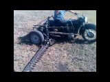Самодельная косилка,мотоцикл Днепр косит.
