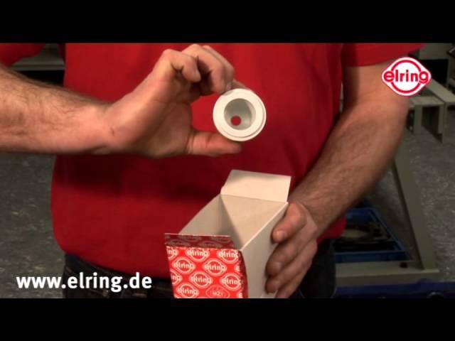 Технология установки тефлоновых сальников Elring