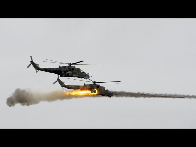 Russian MI-24 Helicopters Launch Attack in Homs | Russian Airstrikes in Syria