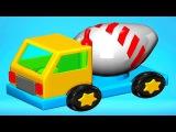 Рабочие Машины для детей - Автокран с Погрузчиком и Бетономешалка. Машинки Build and Play