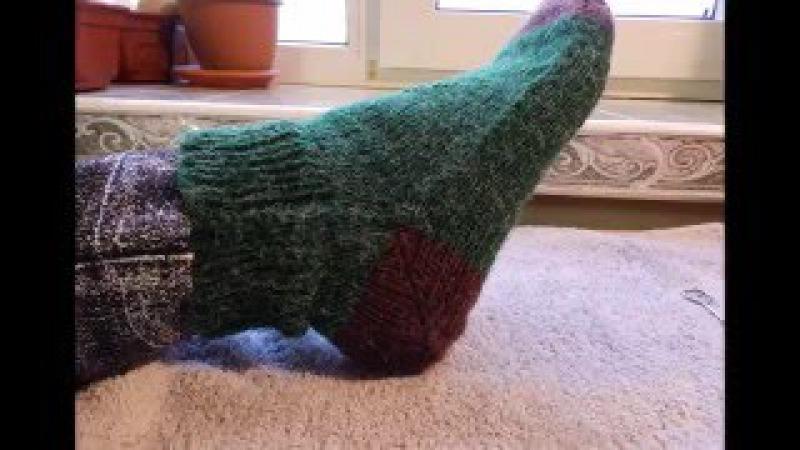 Вязание носки двумя спицами
