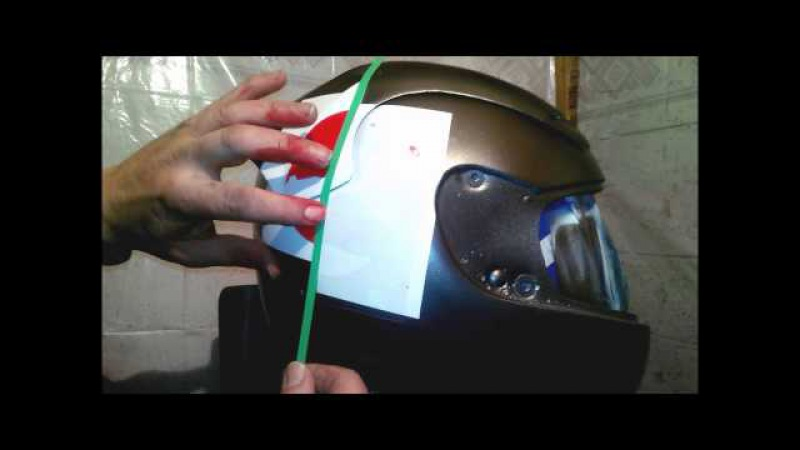 The transformation of Marushin helmet in the Shoei