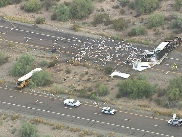 Автобус с 50 узниками попал в аварию. Но вместо того, чтобы пуститься