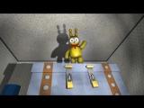 Plushtrap vs Nightmare Freddy Bonnie Chica Foxy Fredbear - FNAF SFM