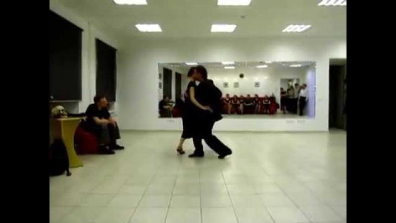 Канженге. Выступление Алексея Барболина и Хельги Домашовой в школе Танго-Профи.