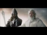 Lord of the Rings- Gandalf and Eomer helping Rohan on the Two Towers