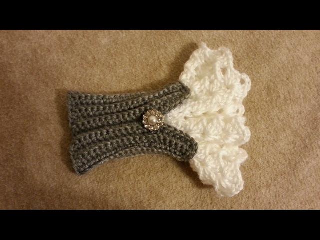 CROCHET How to Crochet Beautiful Victorian Style Wrist Arm Cuff TUTORIAL 181 LEARN CROCHET DYI