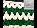 Обучение крючком.Узор Зиг-заг №2 плотный. Education crochet.Tracery Zigzag №2 tight.