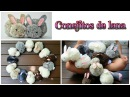 Manualidades fáciles conejitos de pompones de lana - Isa ❤️