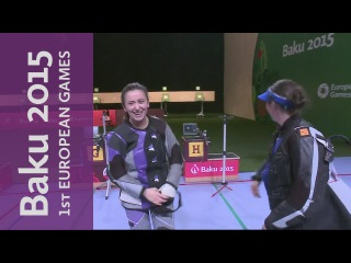 Andrea Arsovic wins Gold for Serbia in the women's 10m Air Rifle Final | Shooting | Baku 2015