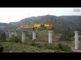 Строительство моста с помощью мега-машины SLJ900/32   Постройка моста в Китае с помощью тяжелой машины SLJ900/32. Огромная машина весит 580 тонн и имеет длину 91,8 метров!
