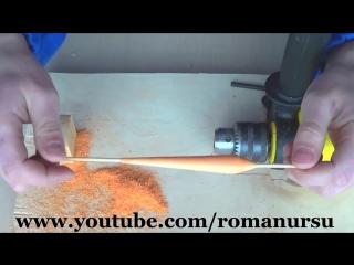 Мини токарный станок из дрели для обработки пенопласта своими руками