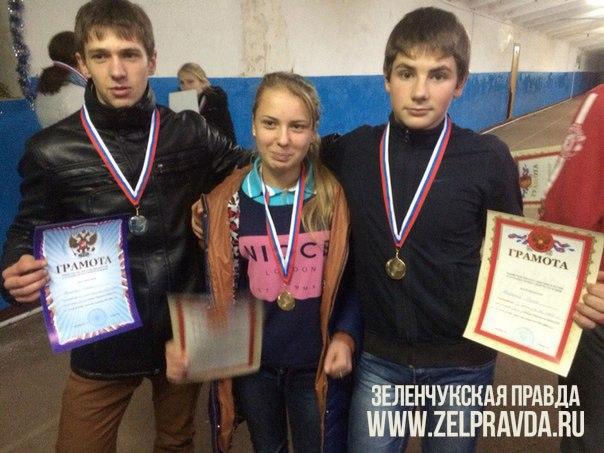Спортсмены из Зеленчукского района призеры личного Первенства Министерства образования и науки КЧР по легкой атлетике