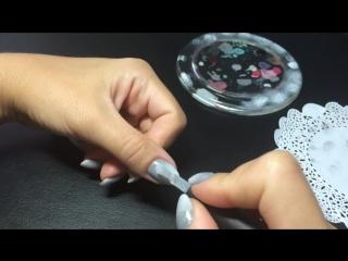 Горизонтальный градиент омбре - маникюр гель лак - уроки дизайна