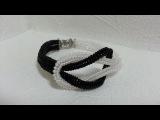 Черно-белый браслет из бисера