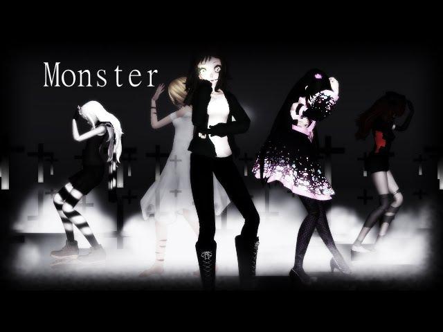 [MMD x CreepyPasta] Monster [Clockwork\Jane Eternal\Suicide Sadie\Zero The-Killer\Ann The-Nurse]