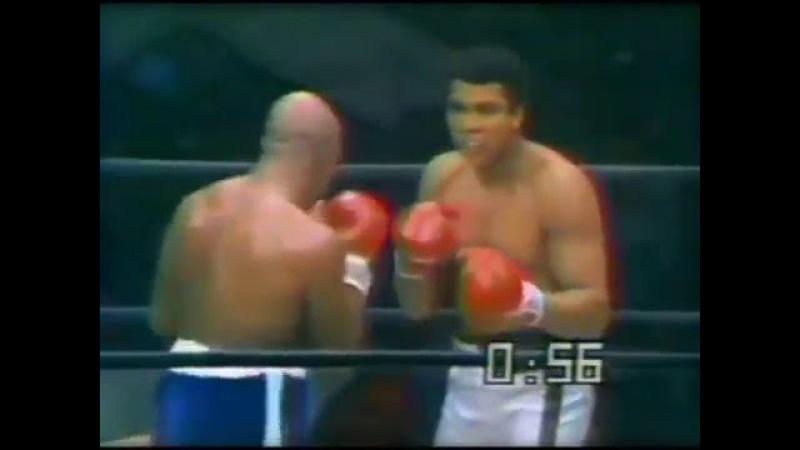 Али выдерживает удар Эрни Шейверса, нежели Ларри Холмс.