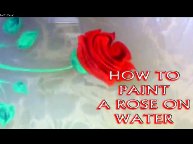 BEAUTIFUL PAINTING ROSE ON WATER, EBRU SANATI