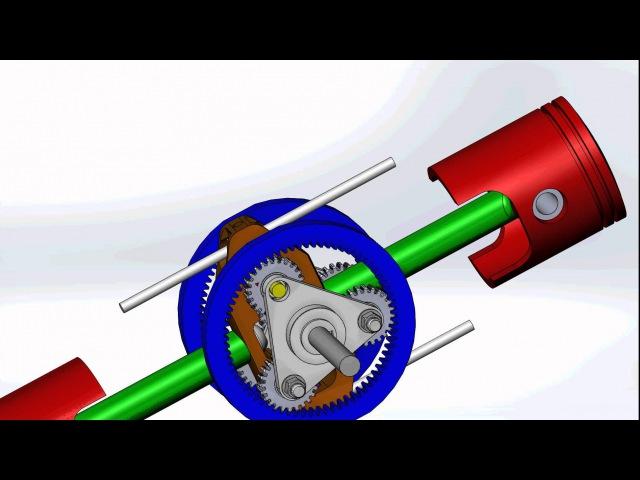IC engine with NO crankshaft.