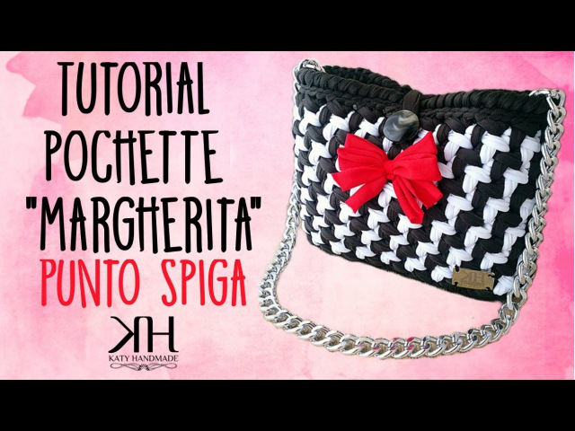 Tutorial pochette Margherita uncinetto | Punto spiga bicolore || Katy Handmade