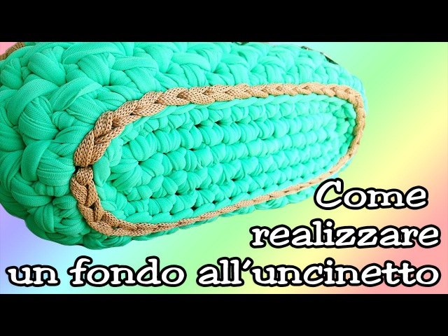 BASE OVALE IN FETTUCCIA PER BORSE - OVAL BASE for CROCHET BAG ⚫ Katy Handmade