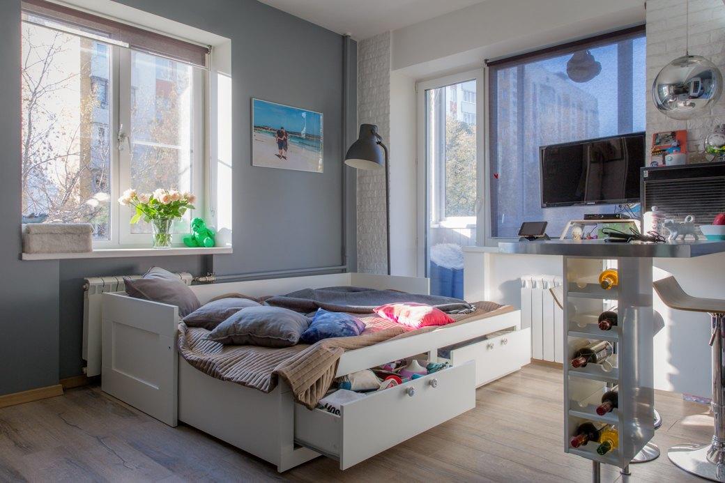 Интерьер квартиры-студии 30 м в Москве.