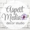 ● Aspect Media ● декор из пластика и дерева